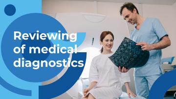 Medical Diagnostics Guide Doctor Holding MRI Scan