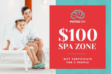 Spa Zone Offer with Mother and Daughter in Bathrobes