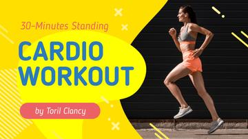 Cardio Workout Guide Woman Running in City
