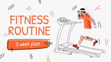 Training Plan Man on Treadmill Drawing