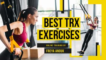 Online Training Woman Resistance Training in Gym