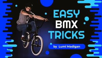 BMX Tricks Man Jumping on Bike