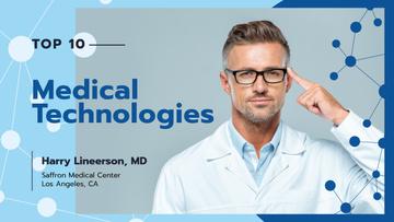 Modern Medical Technologies Doctor in Glasses
