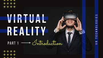 Virtual Reality Guide Man in VR Glasses