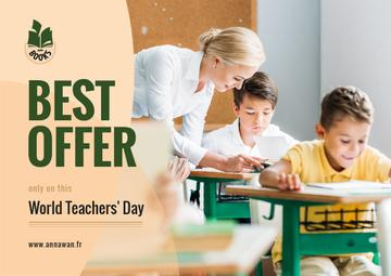 World Teachers' Day Sale Kids in Classroom with Teacher
