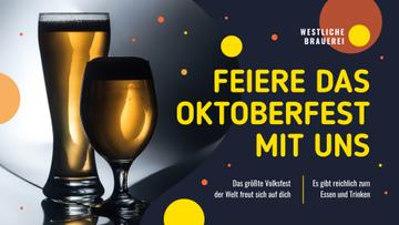 Oktoberfest Offer Beer in Glasses