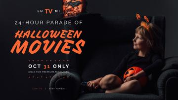 Halloween Movies Parade announcement Girl in Costume