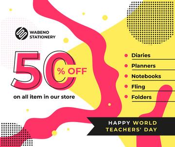 World Teachers' Day Sale Colorful Blots
