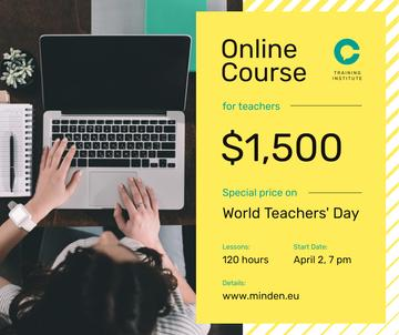 World Teachers' Day Offer Woman Typing on Laptop