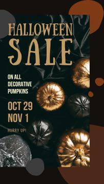 Halloween Sale Decorative Pumpkins in Golden