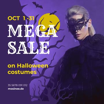 Halloween Costumes Sale Woman in Mask