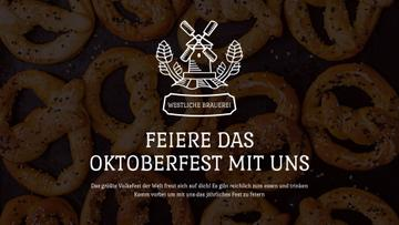 Oktoberfest Offer Pretzels with Sesame