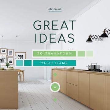Modern Home Kitchen Interior in White