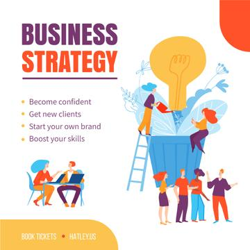 Business Strategy Courses People Growing Bulb