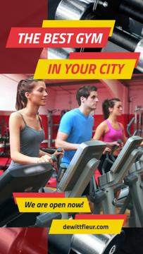 Gym Ticket Offer with People on Treadmills