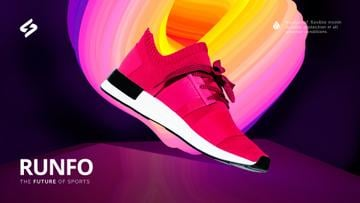 Sporting Goods Ad Running Pink Sports Shoe