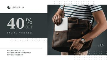 Bag Store Promotion Man Carrying Briefcase