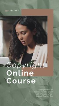 Online Courses Ad Woman Typing on Laptop