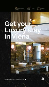 Hotel Invitation Luxury Bathroom Interior