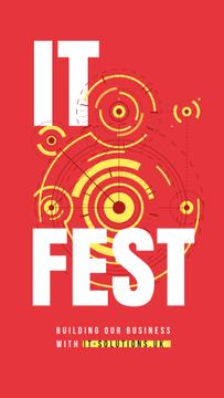 IT Fest Announcement Circles Mechanism