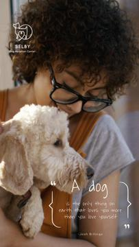 Dog Quote Cute Puppy with Owner