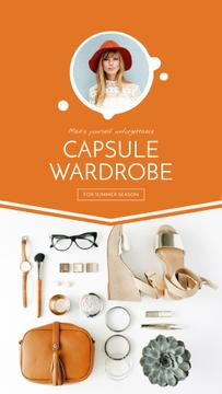 Capsule Wardrobe Flat Lay in Beige