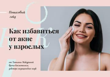 Skincare with Tips Woman Cleaning Her Face