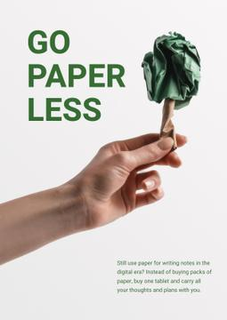 Paper Saving Concept with Hand with Paper Tree
