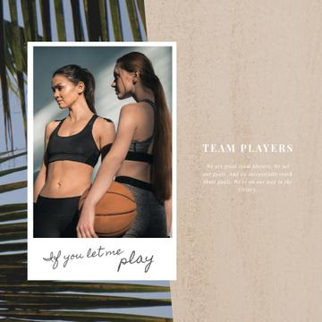 Sports Inspiration with Women Playing Basketball