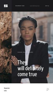 Inspiration Quote Confident Young Woman