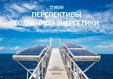 Sun Energy Conference Invitation with Solar Panels View