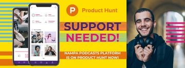 Product Hunt Campaign with Man Wearing Headphones