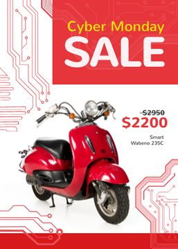 Cyber Monday Sale Scooter in Red