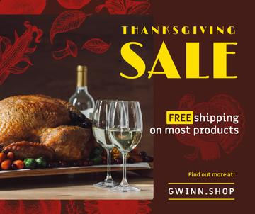 Thanksgiving Sale Dinner with Roasted Turkey