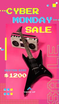 Cyber Monday Sale Electric Guitar in Pink