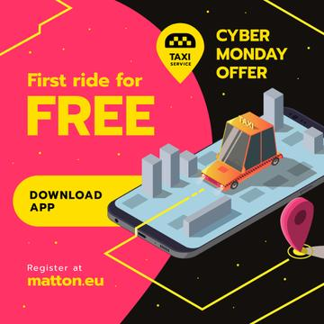 Cyber Monday Offer Taxi Application