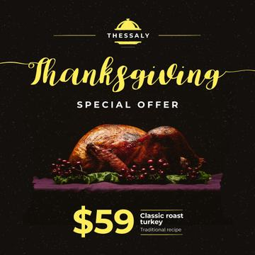 Thanksgiving Offer Whole Roasted Turkey
