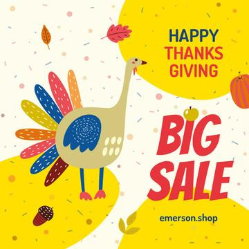 Thanksgiving Sale Funny Turkey