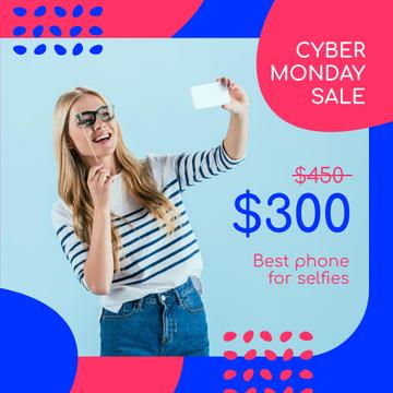 Cyber Monday Sale Girl Taking Selfie