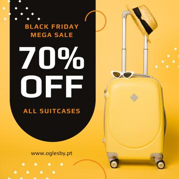 Black Friday Sale Suitcase in Yellow