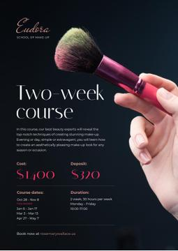 Makeup Courses Promotion with Hand with Brush
