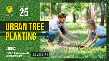 Volunteer Event Team Planting Trees