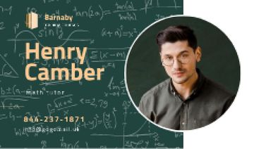 Math Tutor Contacts with Confident Man in Glasses