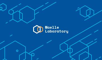 Science Laboratory Ad with Molecule Icon in Blue