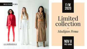 Fashion Collection Ad Women in warm clothes