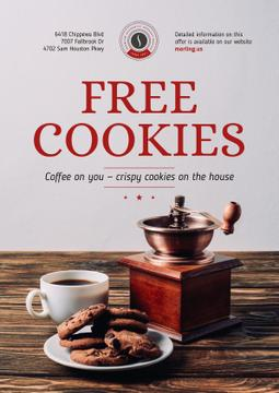 Coffee Shop Promotion with Coffee and Cookies