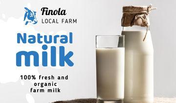 Milk Farm Ad with Glass of Organic Milk