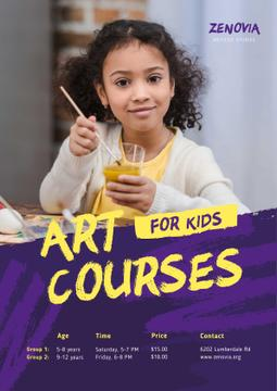 Painting Courses with Girl Holding Brush