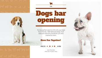 Dogs Bar Ad with Cute Pets