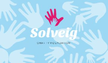 Charity Foundation Supporting with Hands Silhouettes